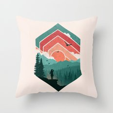 Divided Sky Throw Pillow