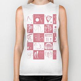 Kandinsky - White and Rose Pattern - Abstract Art Biker Tank