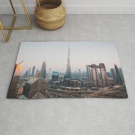 Dubai Skyline Sunset | Travel Photography | Rug