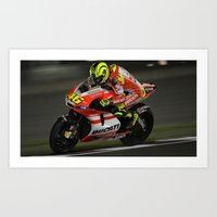 ducati Art Prints featuring Ducati Bike by creejon