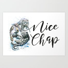 Snow leopards Nice Chap Art Print