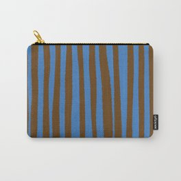Blue & Brown Stripes  Carry-All Pouch