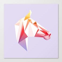 Geometrical Horse Canvas Print