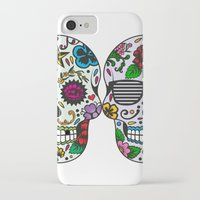 sugar skulls iPhone & iPod Cases featuring Sugar skulls by very giorgious