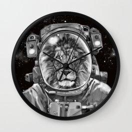 Astronaut Lion Selfie Wall Clock