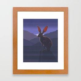 Black-tailed Jackrabbit Framed Art Print