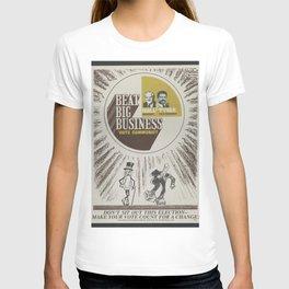 Vintage Poster - Beat Big Business, Vote Communist (1975) T-shirt