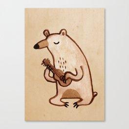 Ukulele Bear Canvas Print