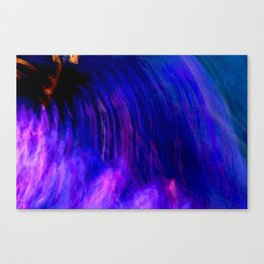 Abstract Purple Mist With A Dash Of Orange Canvas Print