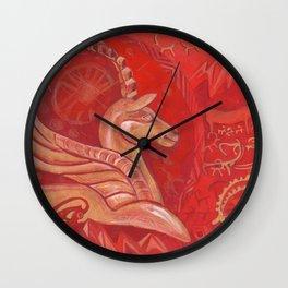 Golden argali Wall Clock