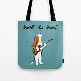 Basset the Bassist (Blue-Gray) Tote Bag