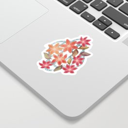 Cute Lilies and Leaves Sticker
