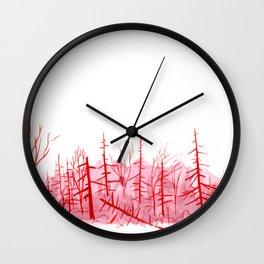 Sanguine Copse Wall Clock