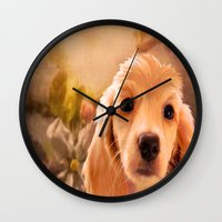 cookie Wall Clocks featuring Cookie.. by YvetteCheri-DigiArt