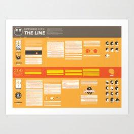 The Adjacent Misadventures: The Line  Art Print