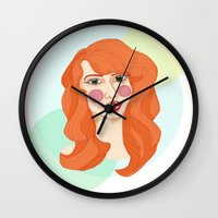 ginger Wall Clocks featuring ginger by bexchalloner