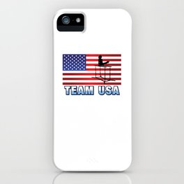 Team USA Parallel Bars Gymnastics American Flag Summer Sports Gift Design iPhone Case