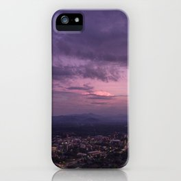 Asheville Stormy Nights Passing By iPhone Case