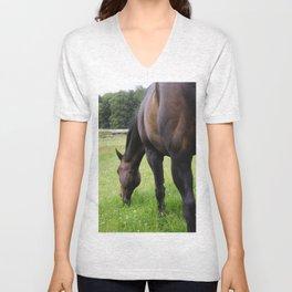 Grazing horse Unisex V-Neck