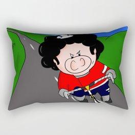 Cycling pig Rectangular Pillow