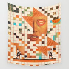 Orange poem Wall Tapestry