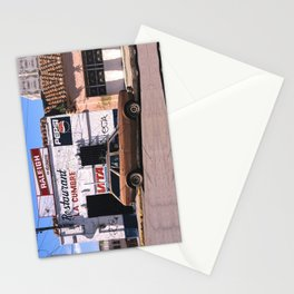Mexico street scene Stationery Cards