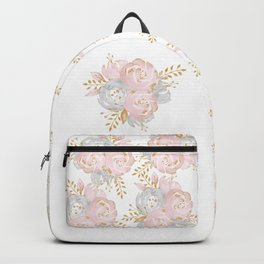 Roses Gold Glitter Pink by Nature Magick Backpack