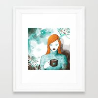 chocolate Framed Art Prints featuring Chocolate by Luby