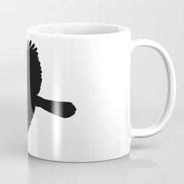 Jackdaw In Flight Silhouette Coffee Mug