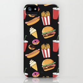 Fast-food (black) iPhone Case