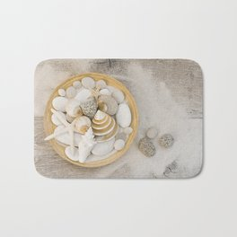 Sea Shell Collection Beach Summer Still Life Bath Mat