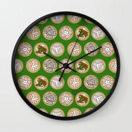 dim sum green Wall Clock