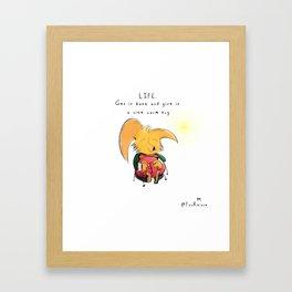 L I F E Framed Art Print