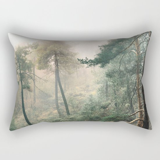 """""""Into the woods"""". Wandering into the fog Rectangular Pillow"""
