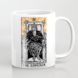 Floral Tarot Print - The Emperor Coffee Mug