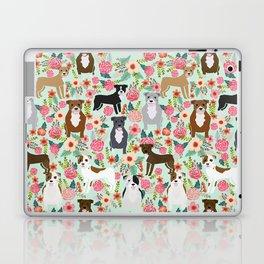 Pitbull florals mixed coats pibble gifts dog breed must have pitbulls florals Laptop & iPad Skin