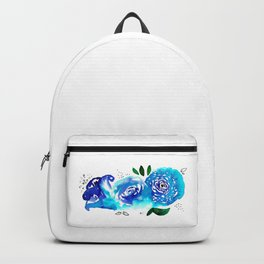 Three Blue Christchurch Roses Backpack