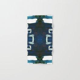 HEWGE Ocean Blue & White Original Mixed Art Hand & Bath Towel