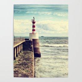 Amble Pier Lighthouse Poster