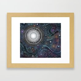 Feather Moon Framed Art Print