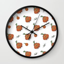 Halloween is coming I Pattern I Wall Clock