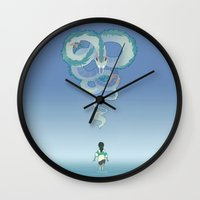 spirited away Wall Clocks featuring Spirited Away by Amy S.