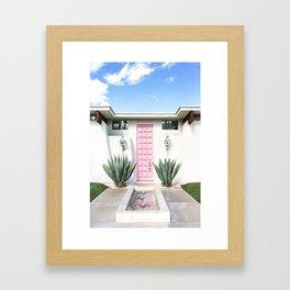 Palm Springs Pink Door Framed Art Print
