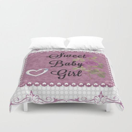 Sweet Baby Girl Duvet Cover