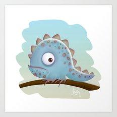 Cute Iguana Art Print