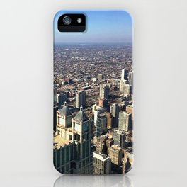 A Clear View of the Chicago Skyline iPhone Case