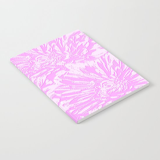 In The Pink Floral Abstract Notebook