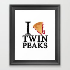 I Love Twin Peaks (Cherry Pie) Framed Art Print