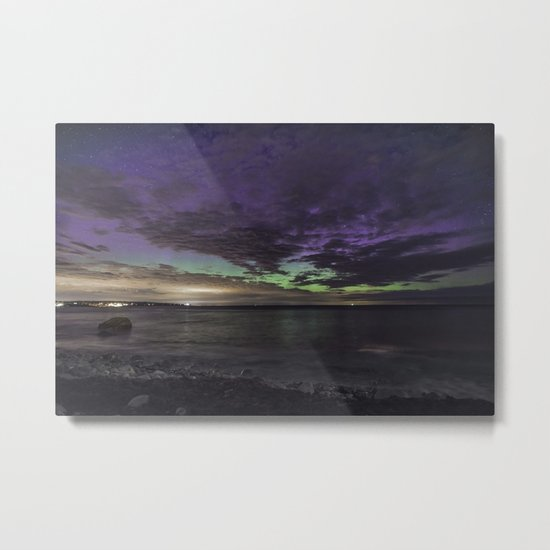 Purple Aurora at Old Garden Metal Print