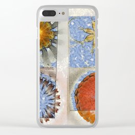Goondie Fact Flower  ID:16165-095608-32641 Clear iPhone Case